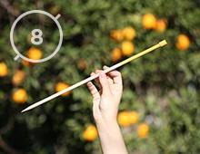 Hilos y madera · Agujas de punto 8mm de diámetro