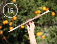 Hilos y madera · Agujas de punto 15mm de diámetro