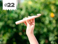Hilos y madera: Aguja de ganchillo XL en madera de haya 22mm