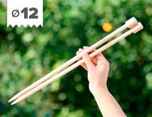 Hilos y madera: Agujas de molde XL en madera de haya 12mm