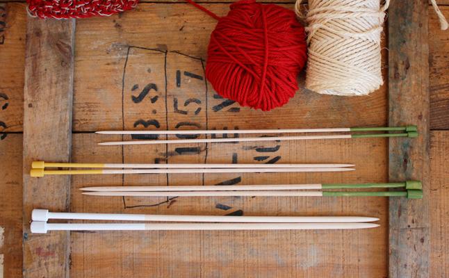 Pack de agujas de molde en madera de haya 8, 6, 5 y 4mm