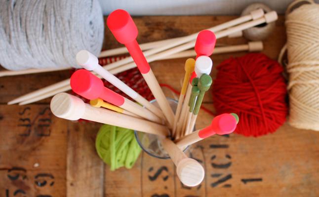 Pack completo de agujas de molde en madera de haya