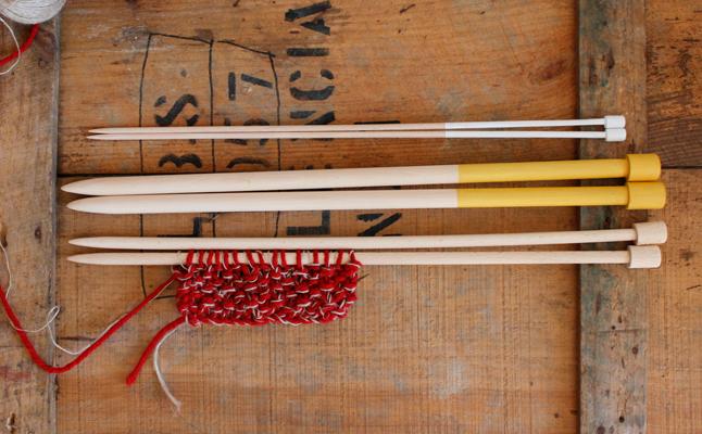 Pack de agujas de molde en madera de haya 15, 10 y 5mm