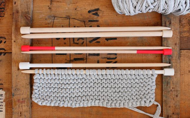 Pack de agujas de molde XL en madera de haya 15, 12 y 10mm