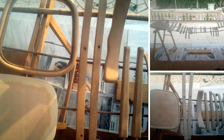 Hilos y madera: Sillas restauradas