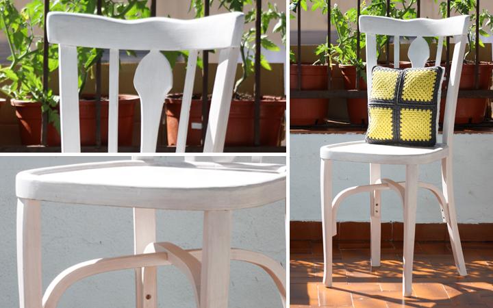 Restauraci n de dos sillas de los a os 70 hilos y madera - Restauracion de sillas ...