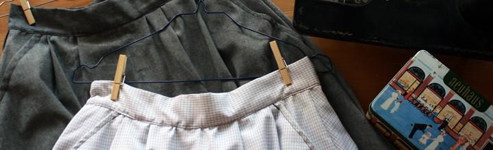 Faldas de pliegues con bolsillos