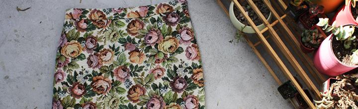 Faldas con tela de tapicero