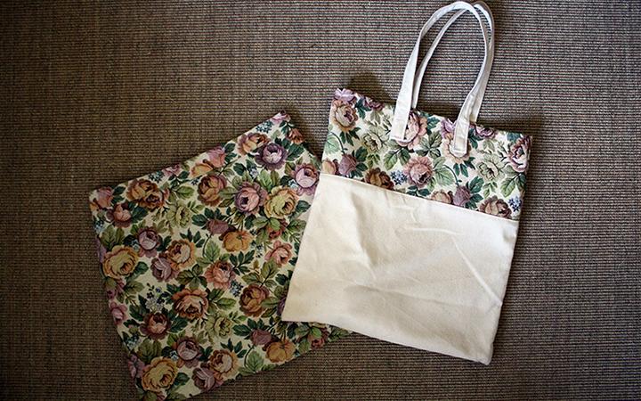 Hilos y madera: falda con tela de tapicero