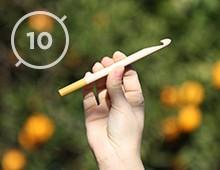Hilos y madera · Aguja de ganchillo 10mm de diámetro