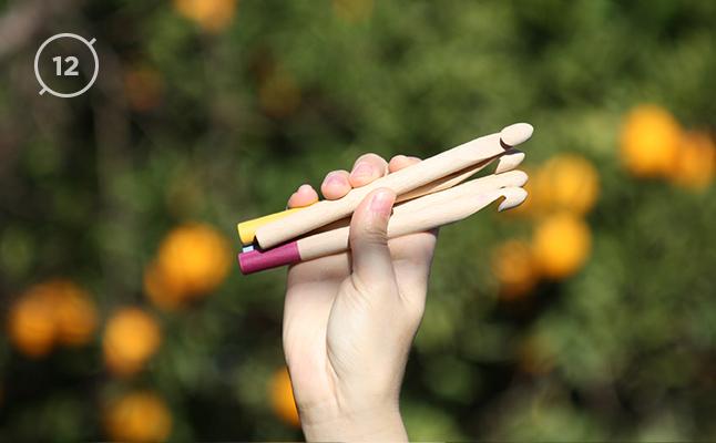 Hilos y madera · Aguja de ganchillo 12mm de diámetro