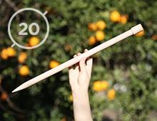 Hilos y madera · Agujas de punto 20mm de diámetro