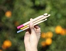 Hilos y madera · Pack de 3 aguja de ganchillo de 12, 10 y 8mm de diámetro